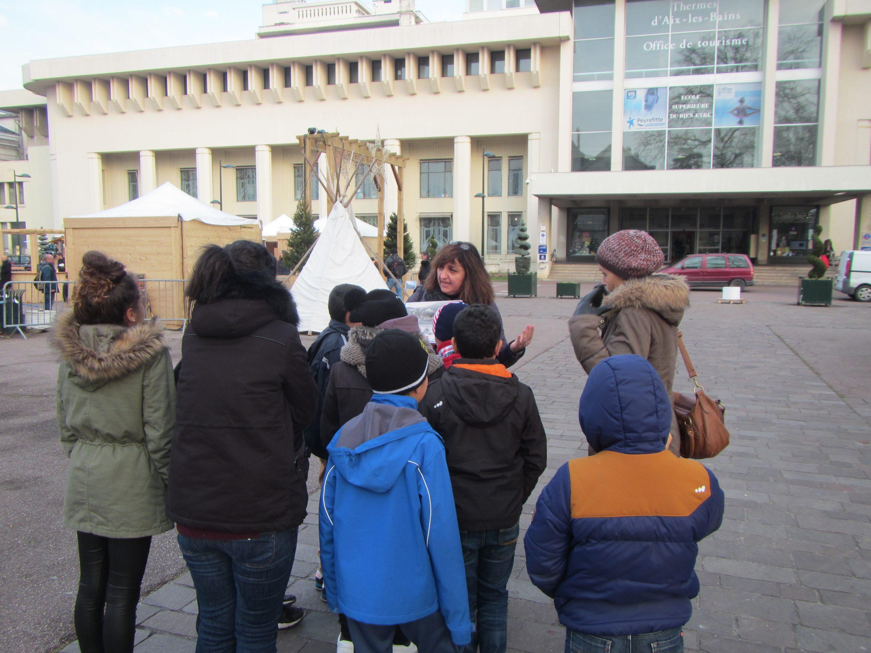 Visite des anciens thermes d'Aix-les-Bains