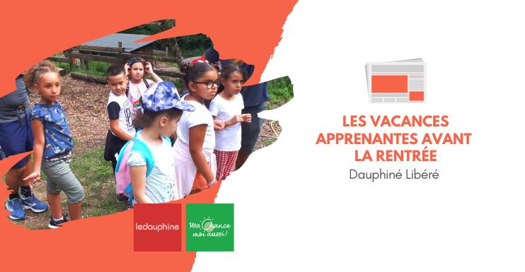 [Dauphiné Libéré] Ma Chance Moi Aussi accompagne 180 enfants