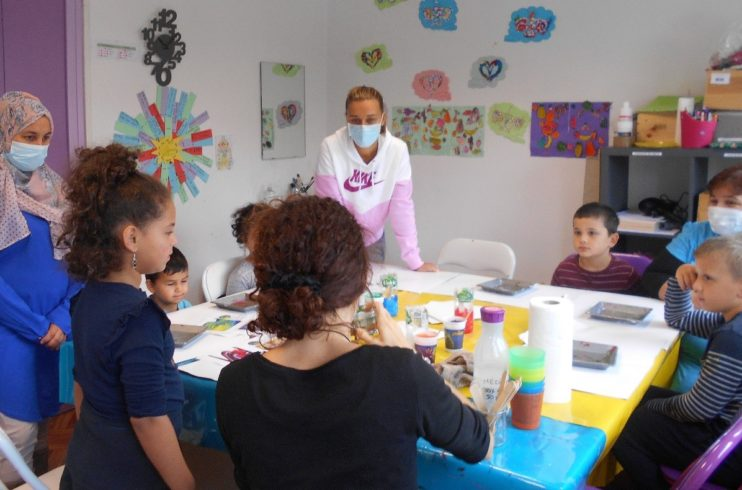 La peinture au service du lien Parents Enfants