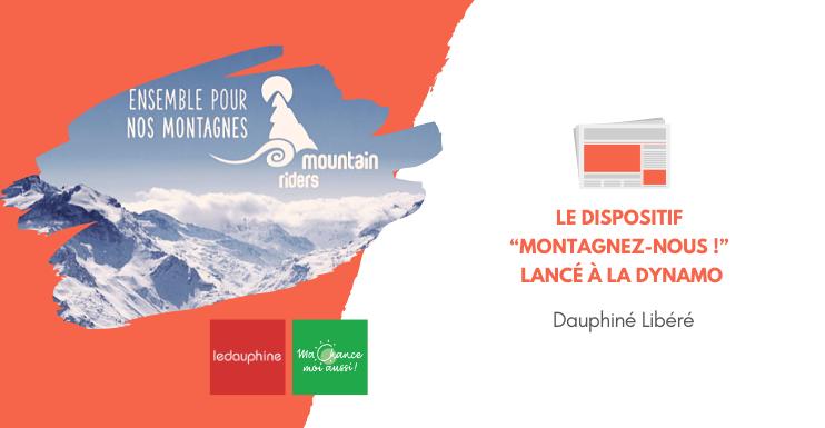 """[Dauphiné Libéré] Le dispositif """"Montagnez-nous !"""" lancé à la Dynamo"""