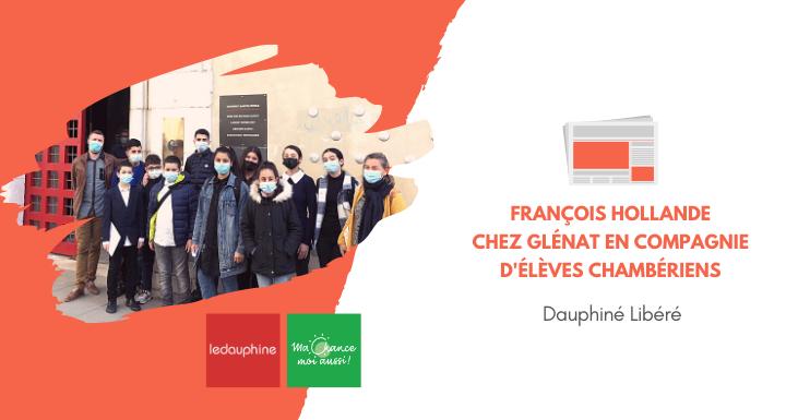 [Dauphiné Libéré] François Hollande chez Glénat en compagnie d'élèves chambériens